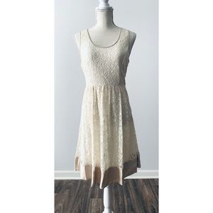 A'reve lace cream baby doll dress size Small